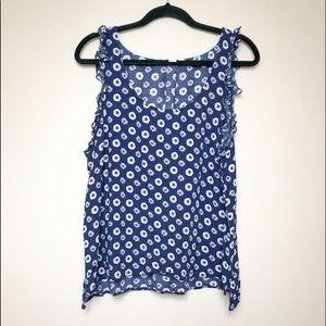 Anthropologie*E by Eloise* Ruffle Flowered Tank